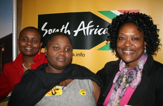 From left, Bulelwa Zimba, Phumzile Mbokazi and Sithembile Ntombela of Brand South Africa