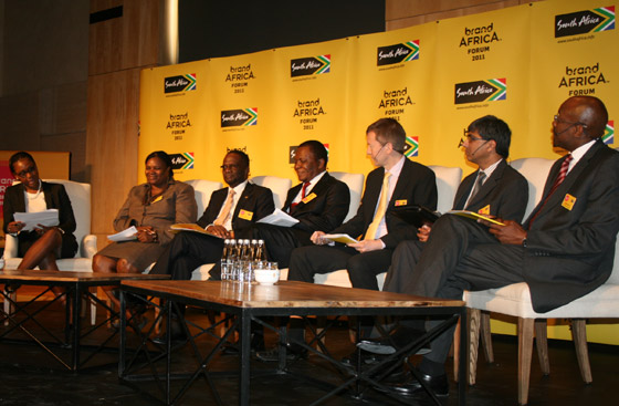 Panel members debating governance and sustainability on the African continent