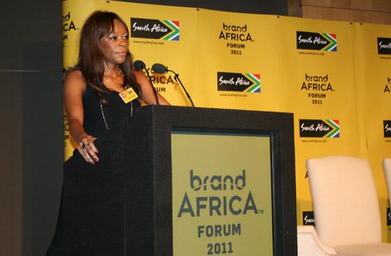 Keynote speaker Dr Dambisa Moyo
