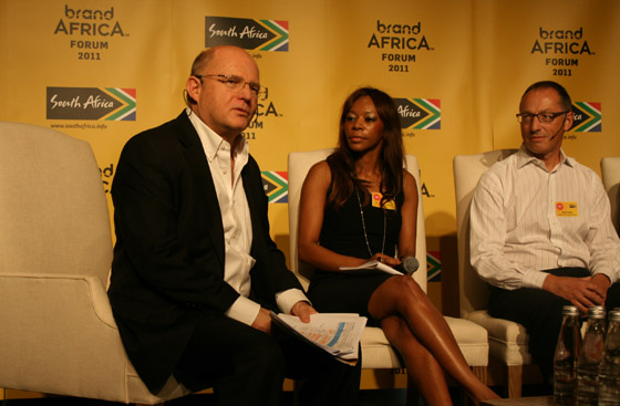 From left, Prof Nick Binedell; Dr Dambisa Moyo and Nigel Hollis of Millward Brown