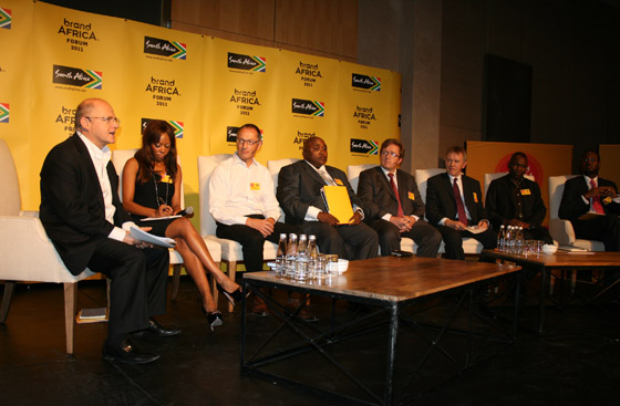 Members of the second panel, which debated the role of business in Africa