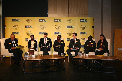 A youth panel discusses their vision of Africa