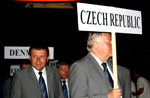 Team Czech Republic at the closing ceremony