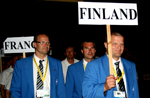 Team Finland at the closing ceremony