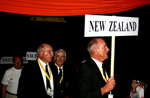 Team New Zealand at the closing ceremony