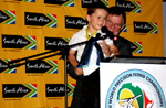 Young Nick Grunwald of Germany won the team mascot award