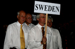 Team Sweden at the closing ceremony