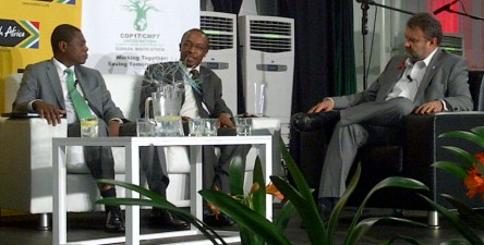 Panelists at the Brand South Africa / FT Roundtable
