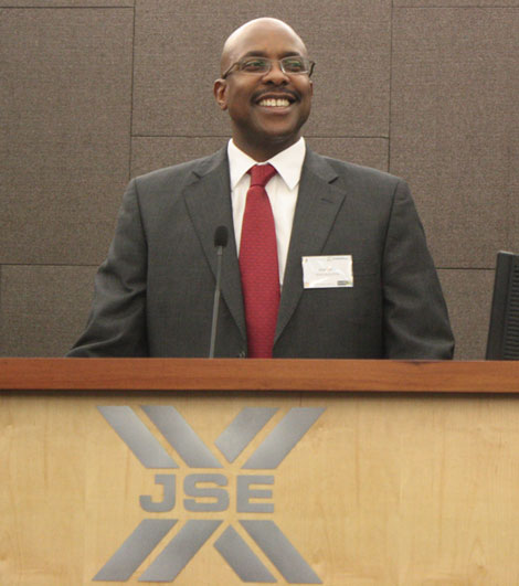 Brand South Africa CEO, Miller Matola, at Africa Risk 2012