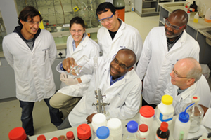 "Dr Kelly Chibale and his team. Photo: <a href=""http://www.uct.ac.za/"">UCT</a>"