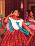 L'Hommage a Ingres African Chic(k) Ms Tshegofatso Phage Seated by Nicholas Allen