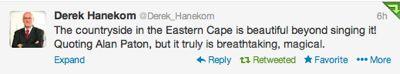 hanekom-tweet