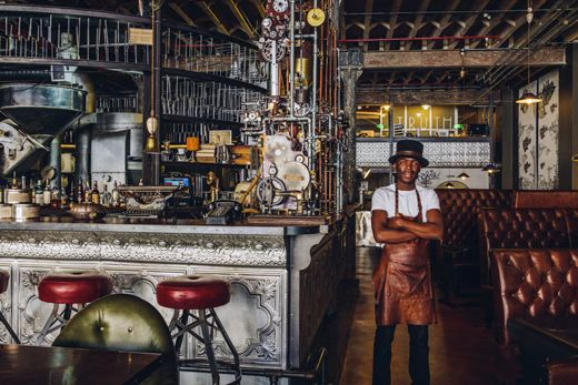 "The extraordinary steampunk-inspired interior of Truth Coffee has garnered the shop international attention – and helped it earn the label as Best Coffee Shop in the World. <em>Photo: <a href=""http://www.shannajones.com/"" target=""_blank"">Shanna Jones</a> / <a href=""http://www.yatzer.com/truth-coffee-cape-town"" target=""_blank"">Yatza</a>"