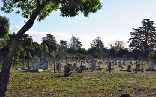 Graves litter The Island, among them a cemetery for lepers who were once banished here to die.