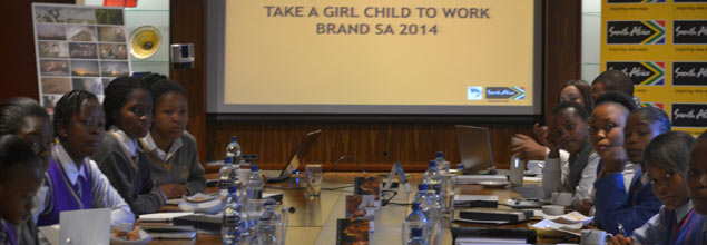 Brand South Africa hosts 12 female leaners from three Diepkloof schools on Cell C Take a Girl Child to Work Day®