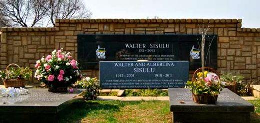 "Albertina is buried beside her husband Walter in the Newclare cemetary in Johannesburg. <em>Photo: <a href=""http://www.joburg.org.za"" target=""_blank"">City of Joburg</a></em>"