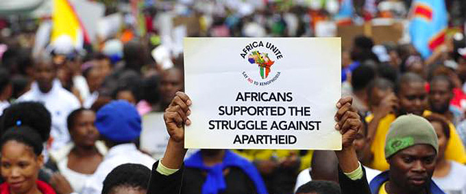 Africans supported the struggle