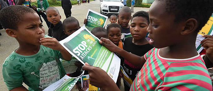 Eastern Cape children xenophobia march