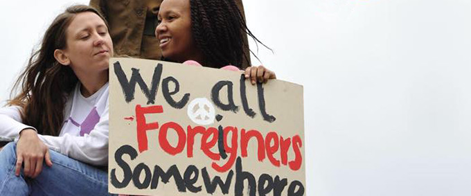 we all foreigners somewhere