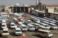 Johannesburg, Gauteng province: Baragwanath minibus taxi rank, Old Potchefstroom Road, Soweto