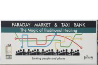 Johannesburg, Gauteng province: The Faraday minibus taxi rank in the city centre is also a market for traditional remedies