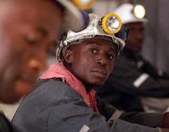 Mineworker at AngloGold Ashanti mine in Ghana