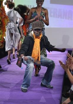 Bill Ruterana takes a bow on the Labo Ethnik catwalk.