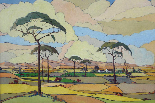 An Extensive View of Farmlands by JH Pierneef (1886-1957)