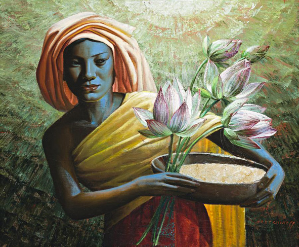 The Rice Lady by Vladimir Tretchikoff