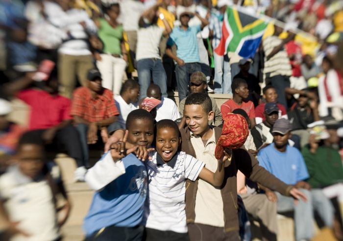 South African football fans