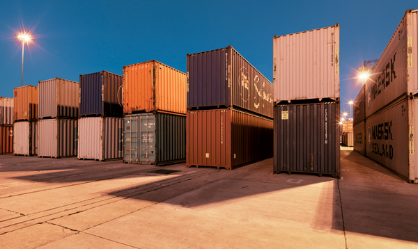 Containers at a South African port