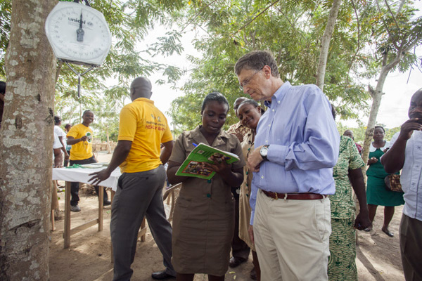 Bill Gates healthcare in Accra Ghana