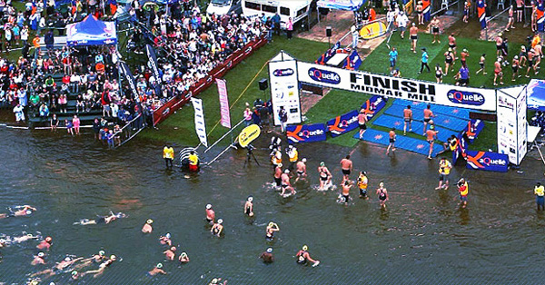 Backstroke, breast stroke or even doggy paddle – it's all welcome at the Midmar Mile