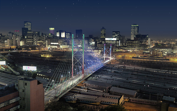 Johannesburg, the commercial capital of South Africa