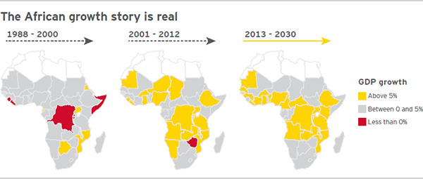 EY Africa GDP growth map