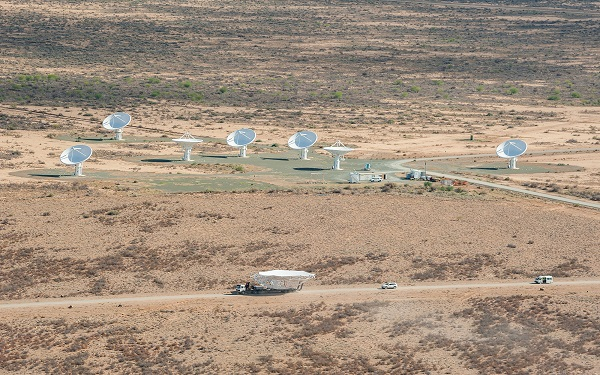 MeerKAT antenna construction and launch March 2014