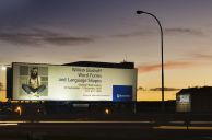 Johannesburg, Gauteng province: Billboard on the motorway advertising an exhibition by internationally acclaimed conceptual artist Willem Boshoff