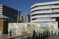 Durban, KwaZulu-Natal province: A mural in the city centre
