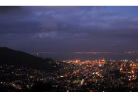 Cape Town, Western Cape province: A view of the city bowl and Signal Hill at night