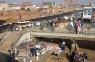 Johannesburg, Gauteng province: Construction work on the extension of the Baragwanath minibus taxi rank in Soweto