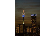 Johannesburg, Gauteng province: The Hillbrow Tower, the property of telecommunications parastatal Telkom, is one of the tallest towers in Africa - and the symbol of the city. To its right is the massive Ponte apartment building