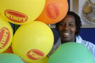 Waitress Mamsi Nomsa Mlangeni at the Wimpy restaurant in Harrismith