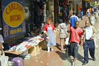Johannesburg: Informal traders in the city centre.