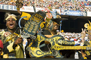 Kaizer Chiefs fans at the final of the 2008 Vodacom Challenge