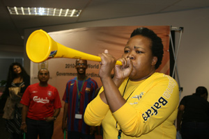 The FIC's undisputed vuvuzela champion blows her stuff