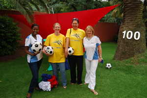 The Inzalo team show off their readiness for the first Fifa World Cup on African soil